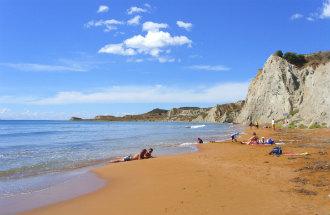 Xi beach op Kefalonia Griekenland