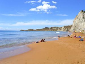 Xi beach op Kefalonia tijdens vakantie