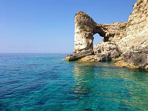 Vakantie naar Paxos en Anti Paxos rotsen aan de kust