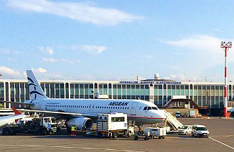 Vliegveld Heraklion op Kreta in Griekenland