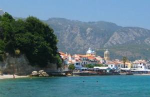 Vliegveld Samos Kokkari aan zee