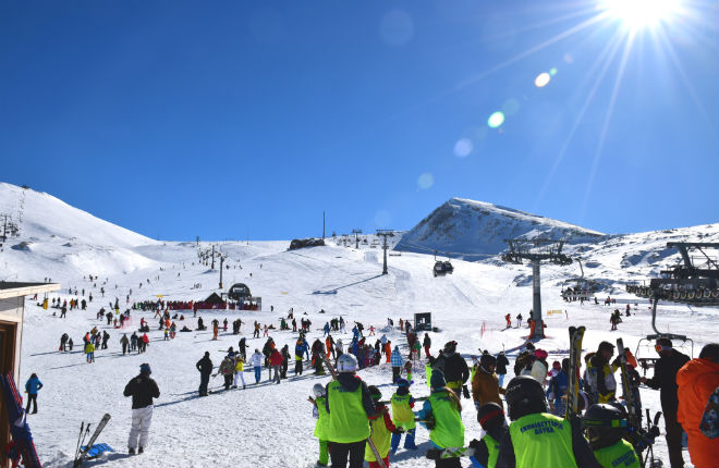 Parnassos ski resort in Griekenland