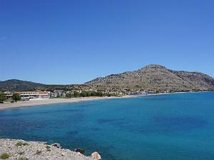 Lardos beach op Rhodos