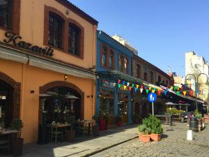 Thessaloniki de gezellige wijk Ladadika