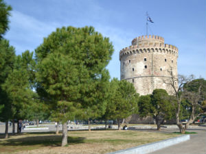 Witte toren Thessaloniki een bezienswaardigheid