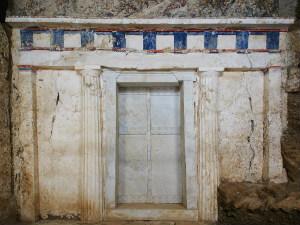 Vergina Griekenland ingang van een koningsgraf