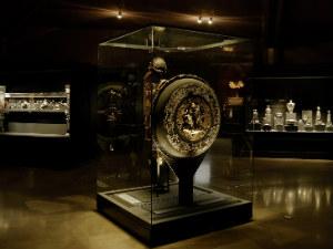 Vergina Griekenland de schatten in het museum