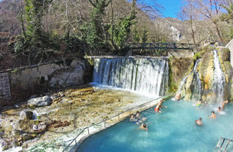 Lontra Polar hot springs in Macedonië Griekenland