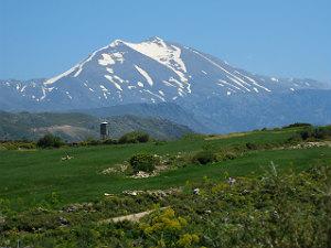 Griekse eilanden met de hoogste bergen Mount Ida Kreta