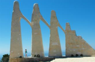 Zalongo monument in Epirus Griekenland