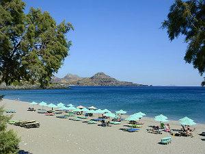 Zuid Kreta in het voorjaar Souda beach bij Plakias
