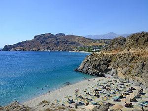Zuid Kreta in het voorjaar Amoudi beach