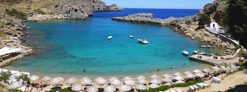 Agios Pavlos beach op Rhodos