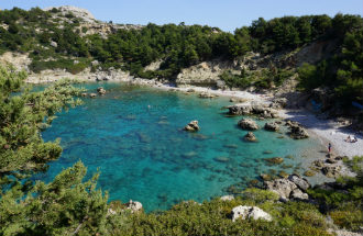 Anthony Quinn Bay op Rhodos in Griekenland