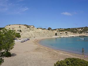 Kolymbia strand op Rhodos