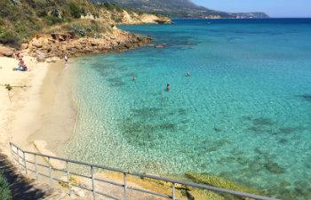 7 mooiste stranden van Kefalonia Agios Thomas beach