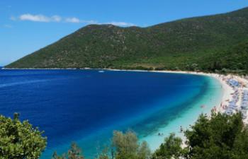 7 mooiste stranden van Kefalonia Antisamos beach
