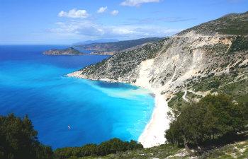 7 mooiste stranden van Kefalonia Myrtos beach