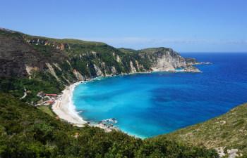 7 mooiste stranden van Kefalonia Petani beach