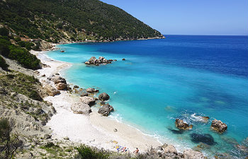 7 mooiste stranden van Kefalonia Vouti beach
