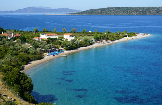 Agios Dimitrios beach op Alonissos