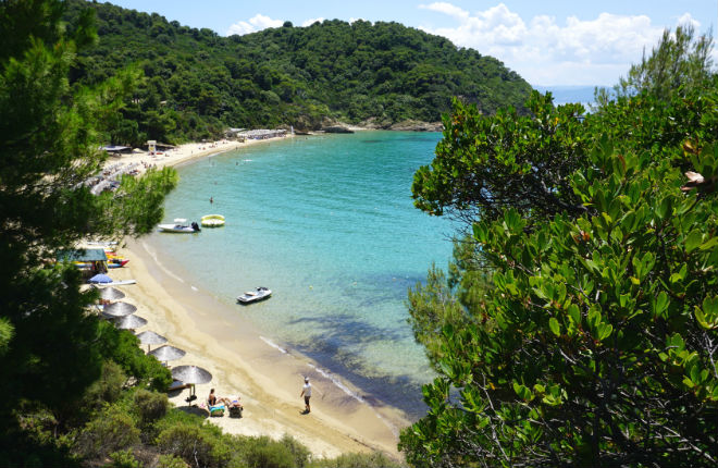 Banana beach Skiathos