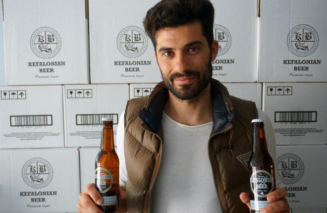 Bier van Kefalonia Nikos Moraitis van Kefalonian Beer