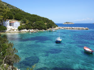 Mooie baai tijdens vakantie naar Kefalonia