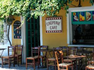 Op vakantie naar Samos lokale taverne