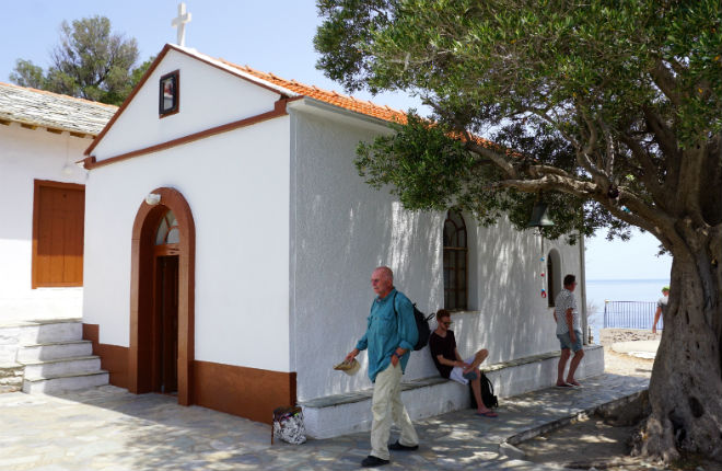 Agios Ioannis kastri kapel uit de film Mamma Mia!