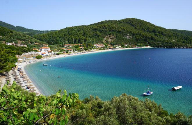 Panormos beach vakantie op Skopelos