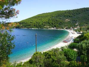 Panormos baai op Skopelos
