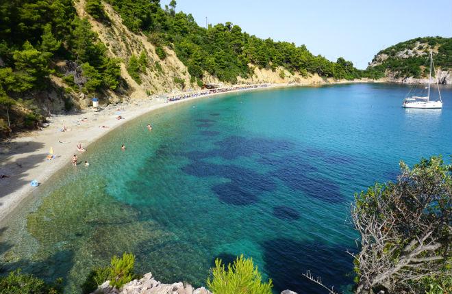Stafylos beach op Skopelos