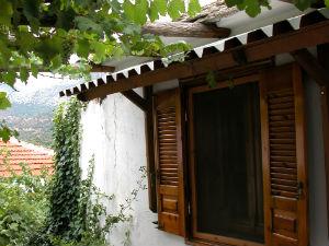 Turkse tabakstuin Griekenland huisje