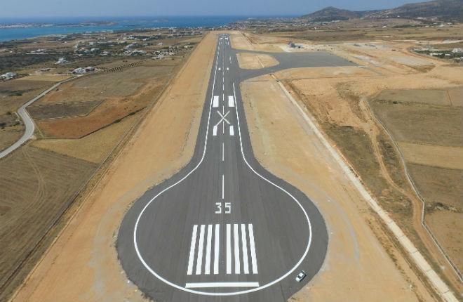 Nieuw vliegveld Paros