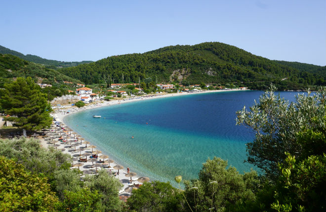 Op vakantie naar Skopelos in Griekenland