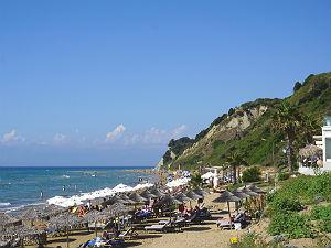 Agios Stefanos Corfu het strand