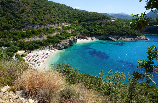 Mega Ntrafi beach op Epirus in Griekenland