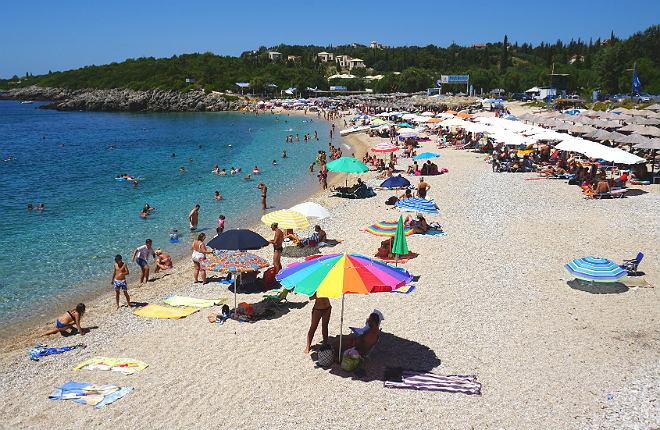 Megali Ammos beach in Epirus Griekenland