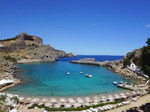 Mooiste stranden van Rhodos Agios Pavlos beach