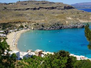 Mooiste stranden van Rhodos Lindos beach