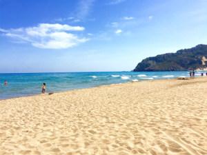 Mooiste stranden van Rhodos Tsambika beach