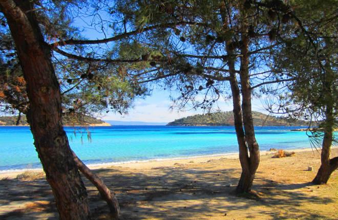 Lagonisi beach op Chalkidiki Sithonia