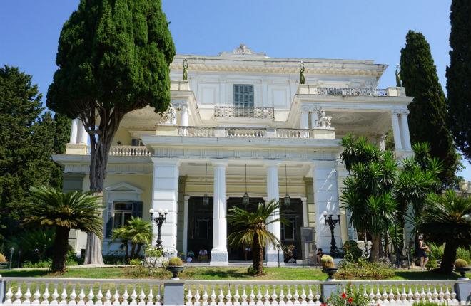 Achilleion foto's op Corfu