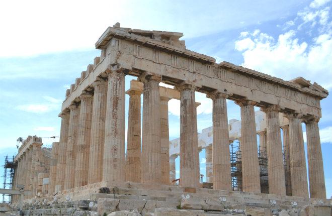 Akropolis bij beste 25 bezienswaardigheden ter wereld