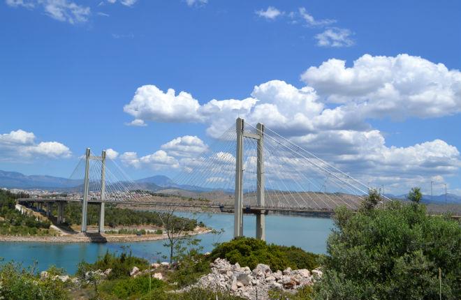 Twee Griekse eiland per weg bereikbaar Evia