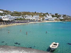 Eilandhoppen Mykonos, Paros en Santorini stranden