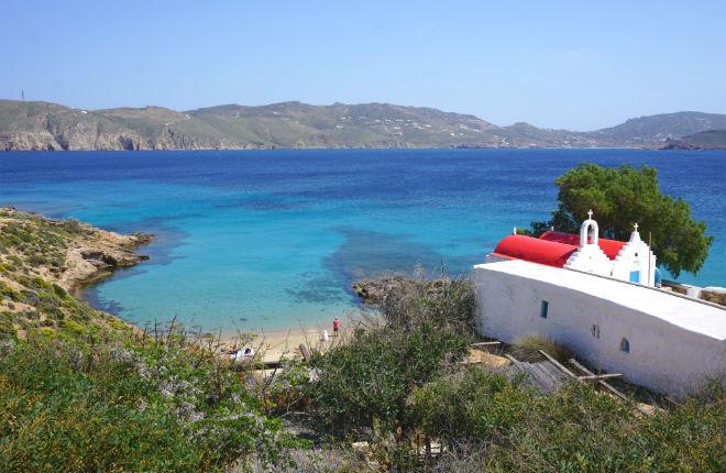 Mykonos heeft de meeste mooie stranden