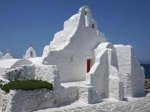 Mykonos stad de Paraportiani kerk