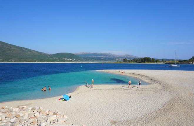 Ammoglossa beach op Lefkas